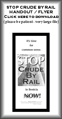 Stop Crude by Rail brochure - click to download